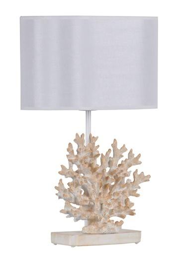 Qdec Modern Dizayn Mercan Abajur   Beyaz
